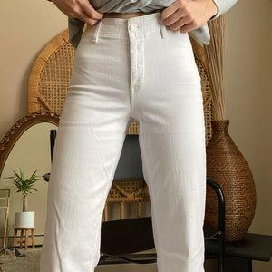 Paige white Nellie wide leg jeans